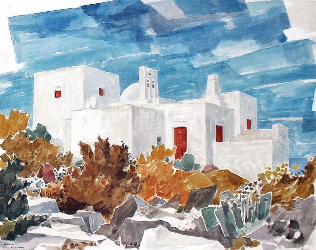 Karl Stadler - Kleines Kloster auf Sifnos (1965)