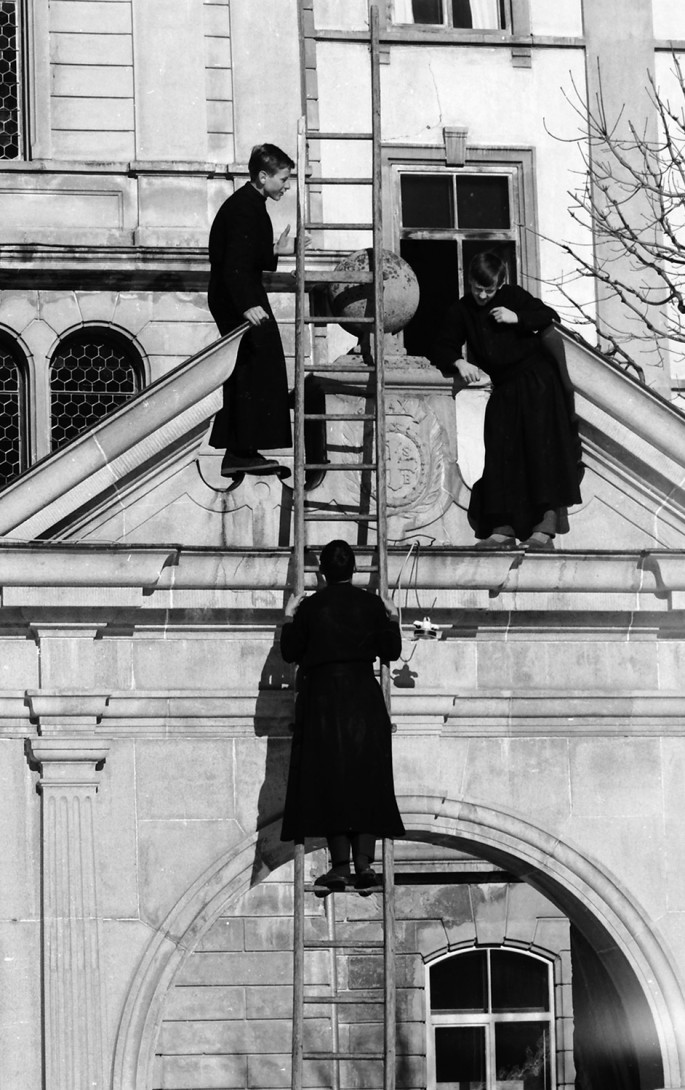 Karl Stadler - Students on the Monastery Gate (1960s)