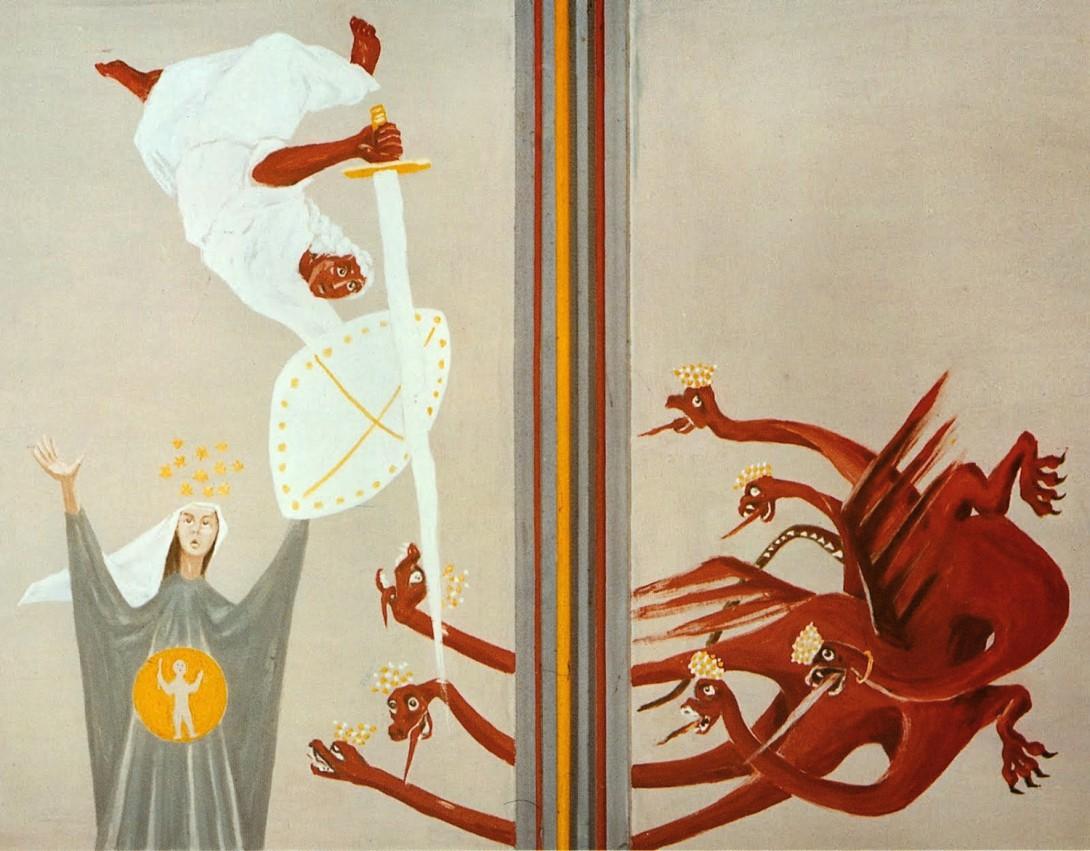 Karl Stadler - Rev. 12, 1-9, Schwand Chapel, Engelberg (1951)