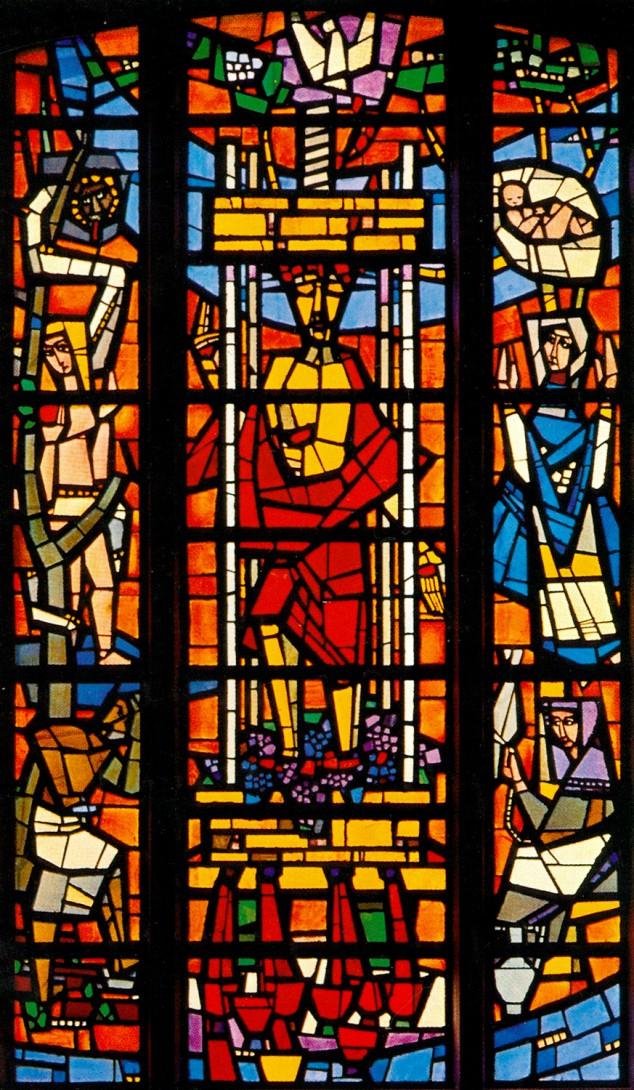 Karl Stadler - Treader of Grapes, St. Ann's Chapel, Wädenswilerberg (1955)