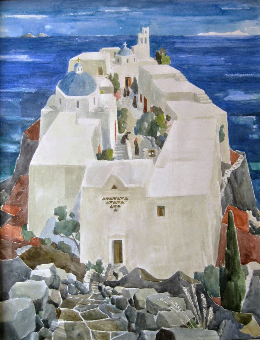 Karl Stadler - Monastery on the Cyclades (1968)