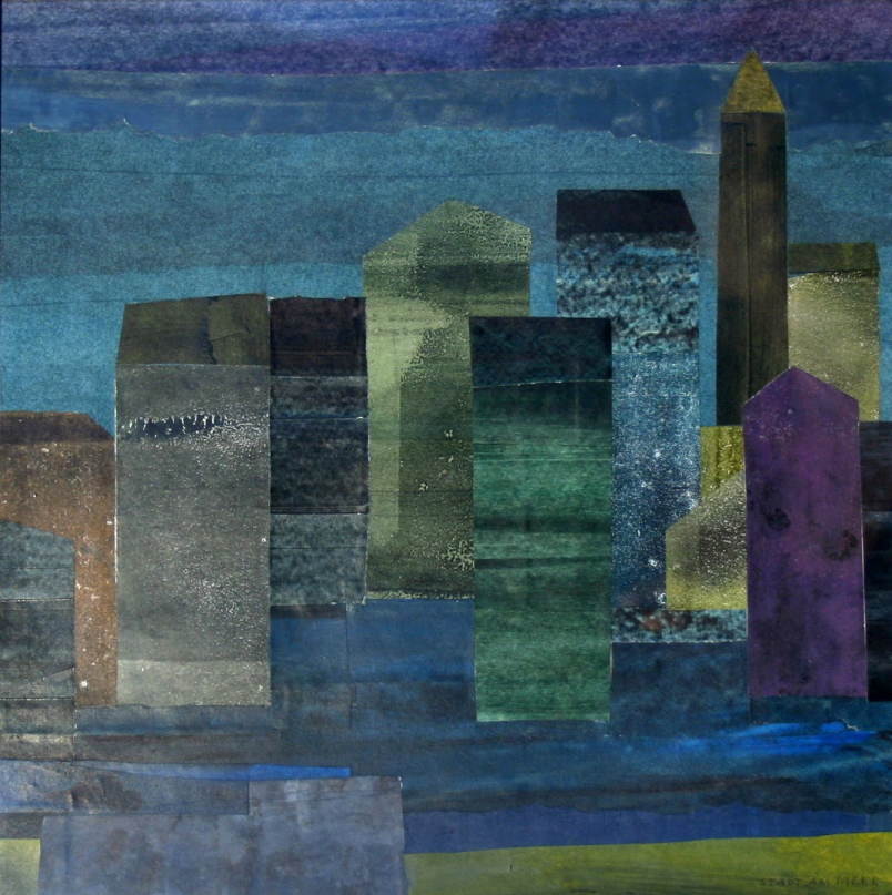 Karl Stadler - City at the Seaside (1985)