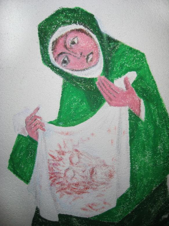 Karl Stadler - Cloth of St. Veronika, Crypt, Convent Maria-Rickenbach (1997)