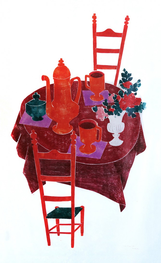 Karl Stadler - Red Table (1970)
