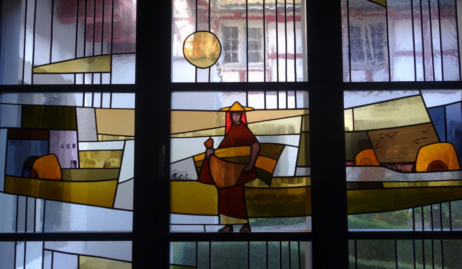 Karl Stadler - The Corn Gleaner Ruth, Convent St. Andrew, Sarnen (1964)